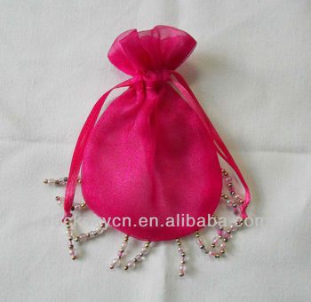 Delicate Christmas Organza Gift Bags