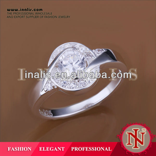 Fashion white silver plated engagement gl french jewelry R157