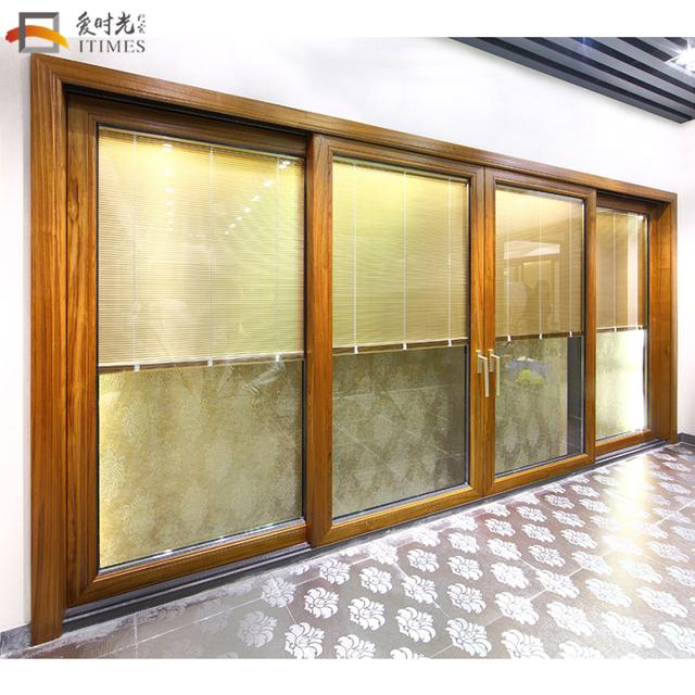 Design 5 Panel Roof Glass Sliding Door Interior Decoration Patio Doors