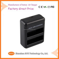 Rechargeable Battery Pack Replacement Battery Dual Battery Charger for GoPro HERO 4 Black/Silver Camera Camcorder