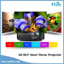 New 4500 Lumens HDMI,Daytime use 1080P 3d Hologram Short Throw Projector,