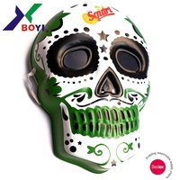 2019 new mexico style halloween adult plastic 3d embossed scary face mask