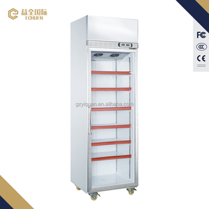 550L wholesale price commercial supermarket showcase beverage display freezer refrigerators