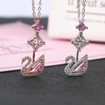 AP22598 wholesale 925 italian sterling silver swan pendant woman jewelry dropshipping