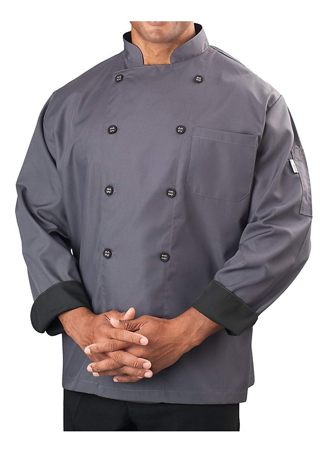 KNG Mens Long Sleeve Active Chef Coat