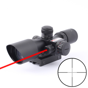 SPINA Sight Riflescopes Electro Red Dot Sight Hunting Rifle Scope 2.5-10x40e Red&Green Illuminated Crosshair Gun Optics