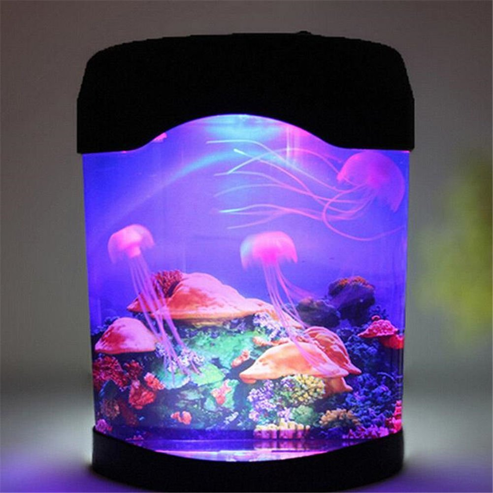 Get Quotations · Discovery Kids LED Multi Colored Swimming Jellyfish Tank Mood  Lamp Night Light