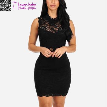 Black Lace Forever New Picture Fashion Short Dresses Fashion L28189