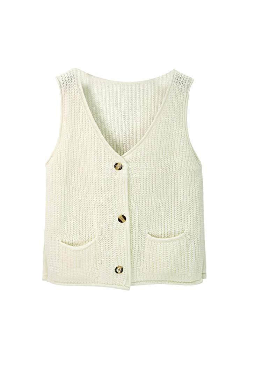 dd5808c54 Get Quotations · XQS Women Vests Button Up Sweater Vests Knit Coats Vests