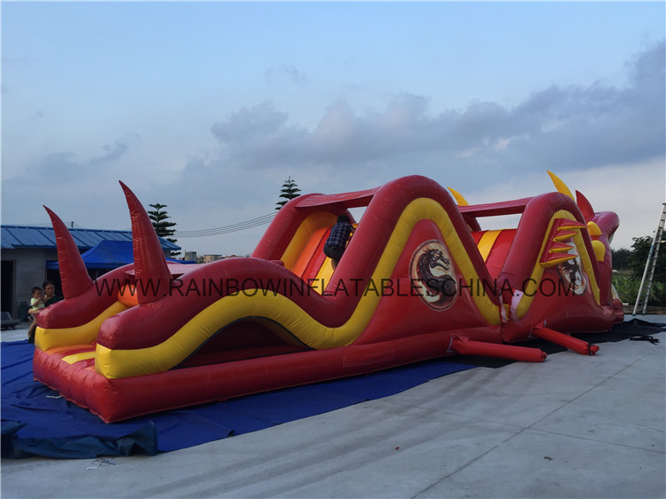 Red Color Dragon Climbing Giant Adult Obstacle Course Game