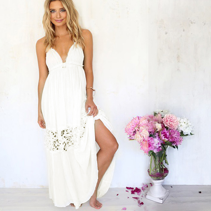 93ed48334b4ff Cheap White Maxi Dress Beach, find White Maxi Dress Beach deals on ...