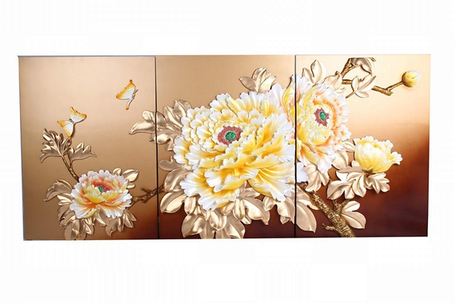 XQY Triple Relief Embossed Painting, Embossed Wall Decoration - Modern Living Room Hotel Decorative Painting, Three-Dimensional Relief Painting, Craft Painting,As Show,6080CM