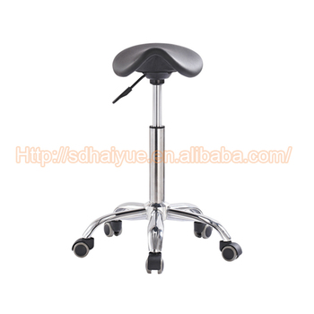 Children Student Mini Saddle Seat Stool For Barber Usage Black Leather Chair
