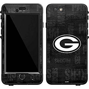 NFL Green Bay Packers Lifeproof Nuud iPhone 6 Plus Skin - Green Bay Packers Black & White Vinyl Decal Skin For Your Lifeproof Nuud iPhone 6 Plus
