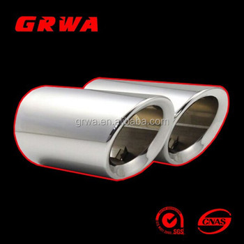 2 x NO SCREW Exhaust Tip for Audi Q7 3.0T 3.0TDI