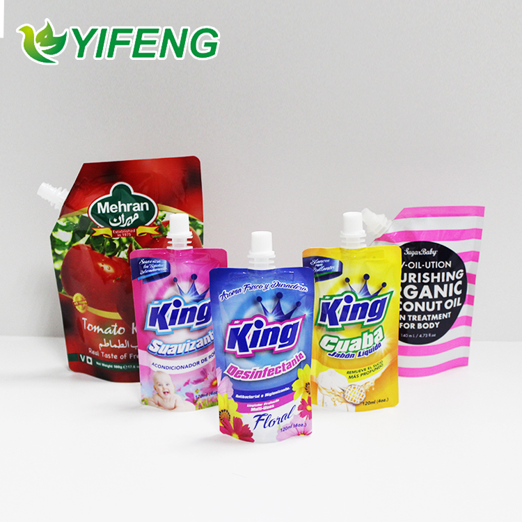 Top Quality Soft Hand Washing Liquid Cap For Detergent Cleaning Sachets Pouch With Spout Tap