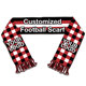 fashion acrylic custom men striped knitting scarf manufacturer with good offer