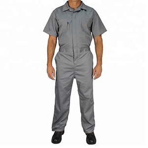 Unisex Cotton Pure Color Uniform V-Neck Workwear