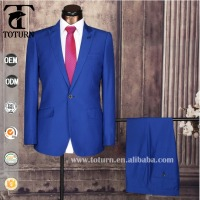 0310 Mens 2 pc 1 Button Premium Slim Fit Suits Body Fitness Suit