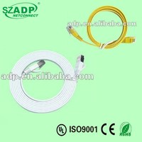 ADP Cheap CAT5e/cat6/cat7 Flat Lan Cable with 8p8c RJ45 Connector Patch Cord