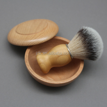 Professional barber brush Real Bamboo handle shaving synthetic brush with wood bowl