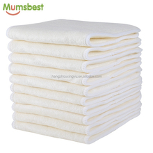 Mumsbest 4 lagen 100% pure Bamboe <span class=keywords><strong>Luier</strong></span> <span class=keywords><strong>Insert</strong></span> Ongebleekt Bamboe Nappy Liners <span class=keywords><strong>Luier</strong></span> Inserts