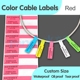 Factory supply custom self-adhesive pp synthetic material paper cable tags wire label sticker