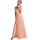 Popular High Quality Oem Chiffon Women Evening Long Dress
