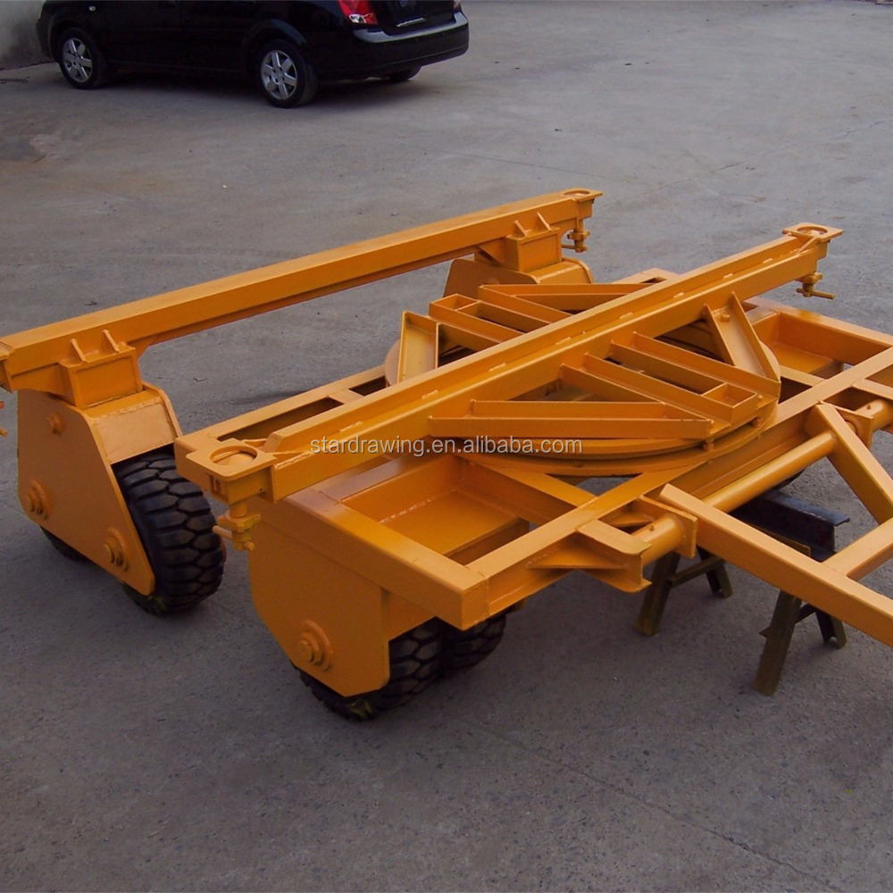 SS ISO Shipping Container Dolly Roda Kastor