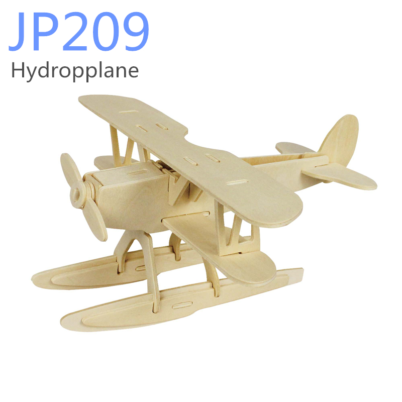 Plane Science DIY Wooden Puzzle Toy