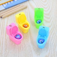 Kreatif Stationery Mini Toilet Gaya Rautan Pensil