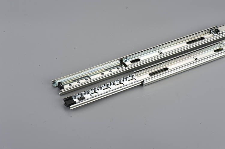 Full extension ball bearing telescopic drawer slide soft close