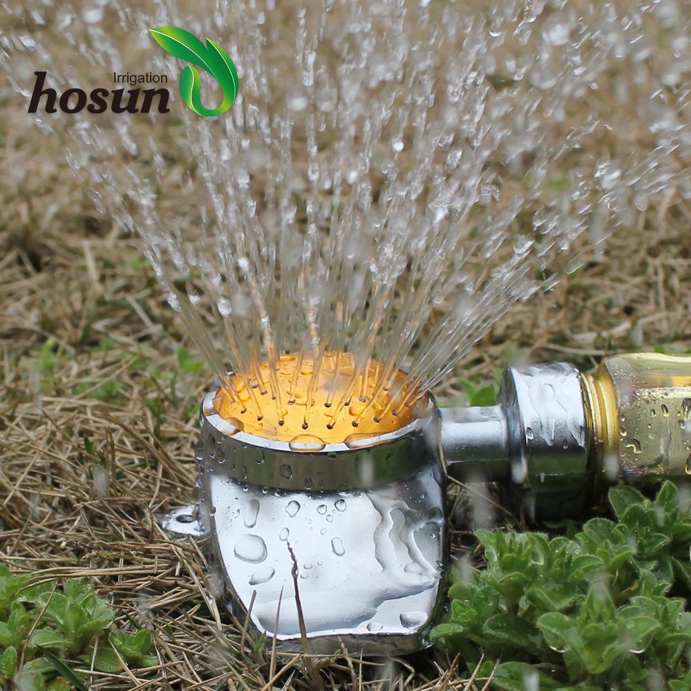 Pulsator Sprinkler Wheeled Base Watering Irrigation Lawn Plant Garden Die Cast
