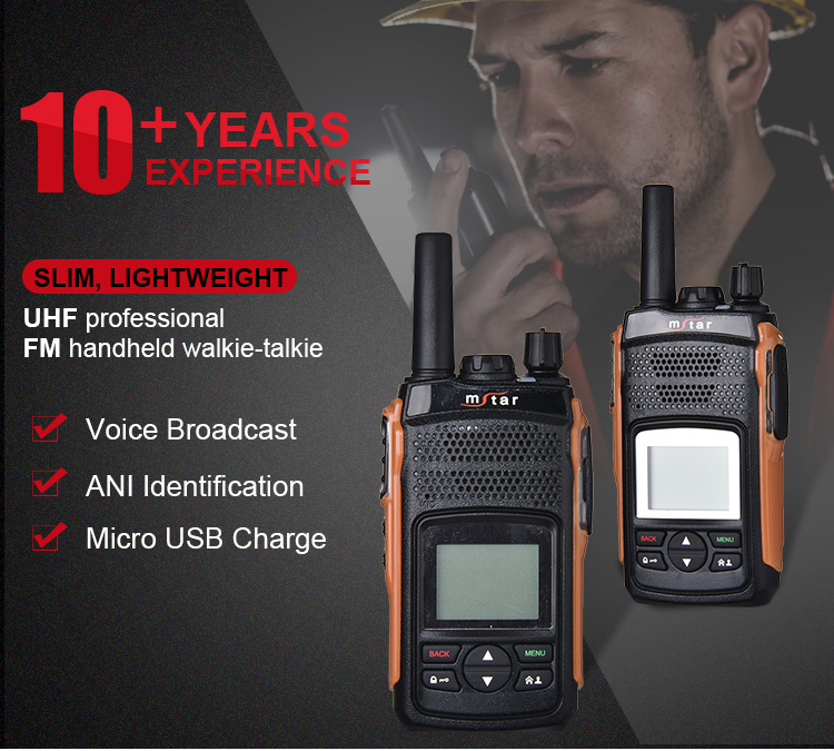 Mstar M-208 GPS Clear Contain LED Display Digital Two Way Radio Walkie Talkie
