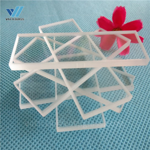 transparent corrosion resistance rectangular quartz glass cover slips