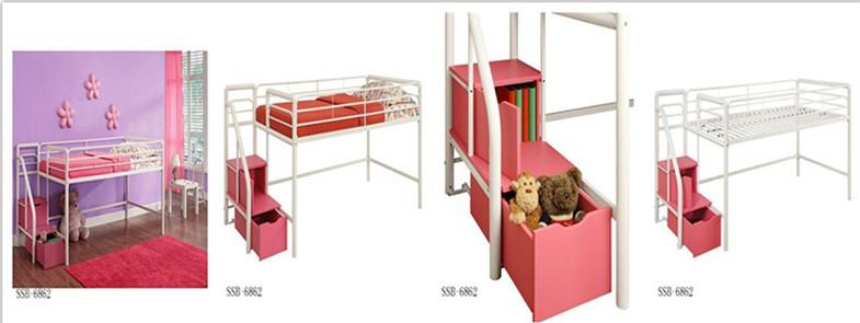 Negro/plata Muebles De Dormitorio Niños Gemelos Bajo Cama Alta Con ...