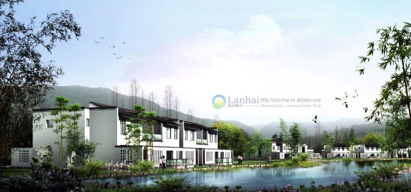 Residential Area Landscape Architecture Rendering
