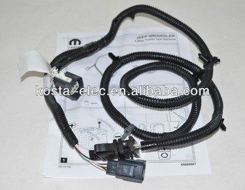 jeep wrangler trailer tow wiring harness new oem mopar 82210213 jk 4 rh alibaba com jeep patriot trailer wiring harness installation jeep patriot tow wiring harness