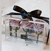 Rose Arrangement Expert Square Clear Acrylic Flowers Box Mirror Rose Box