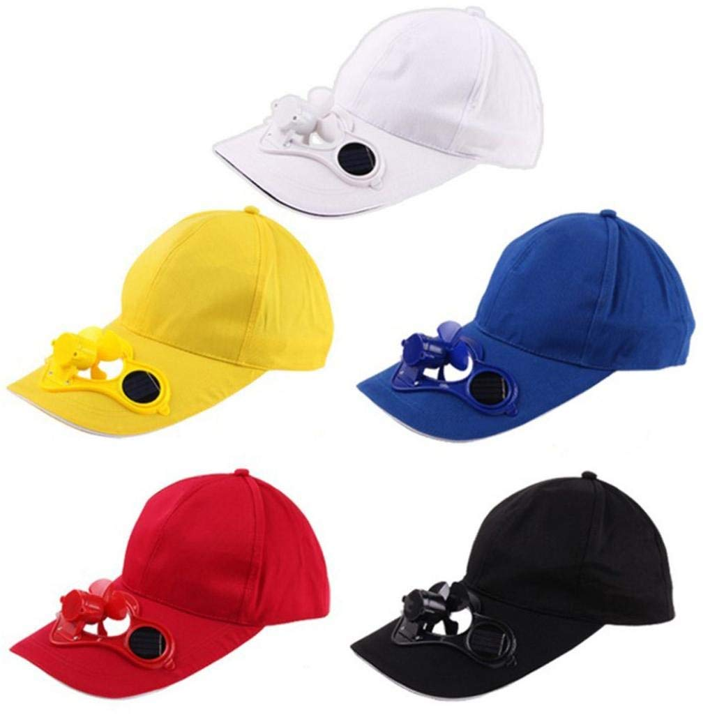 c2e89c61e04 Get Quotations · Nacome Summer Sport Outdoor Hat Cap with Solar Sun Power  Cool Fan for Cycling Camping