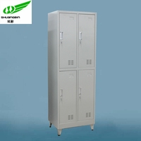 double tier four door steel foot locker cabinet with feet