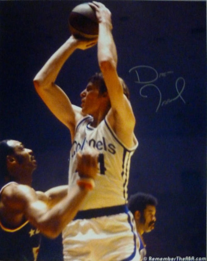 DAN ISSEL AUTOGRAPHED/SIGNED KENTUCKY COLONELS 16x20 PHOTO ABA