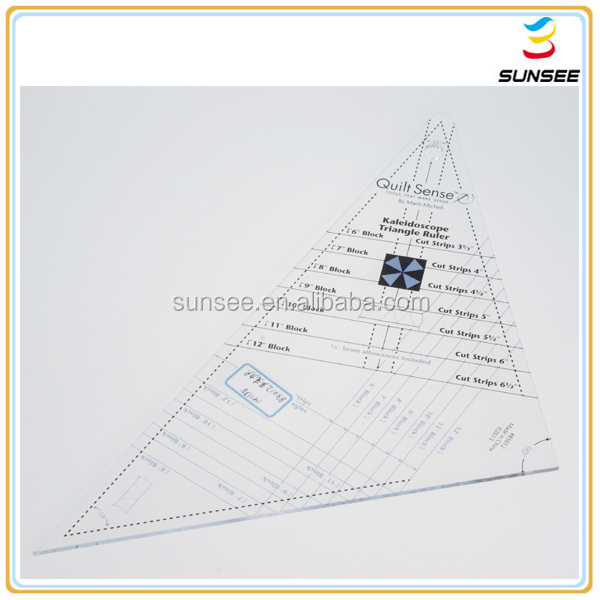 Factory direct supply low price high quality acrylic patchwork Ruler