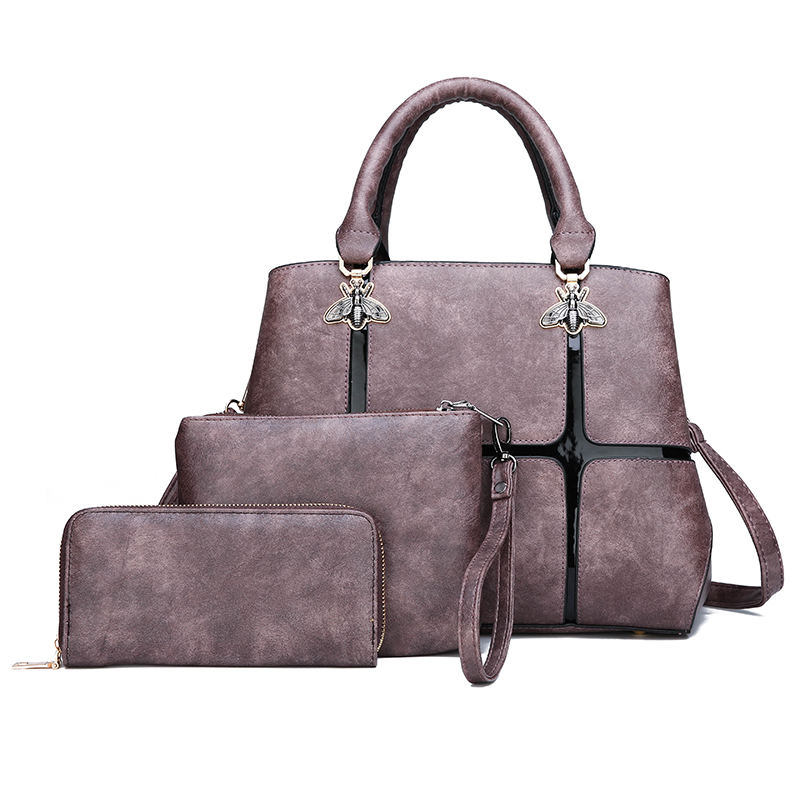 fashion <strong>women</strong> shoulder bags wholesale 3pcs <strong>women</strong> hand bag set best sell ladies bags