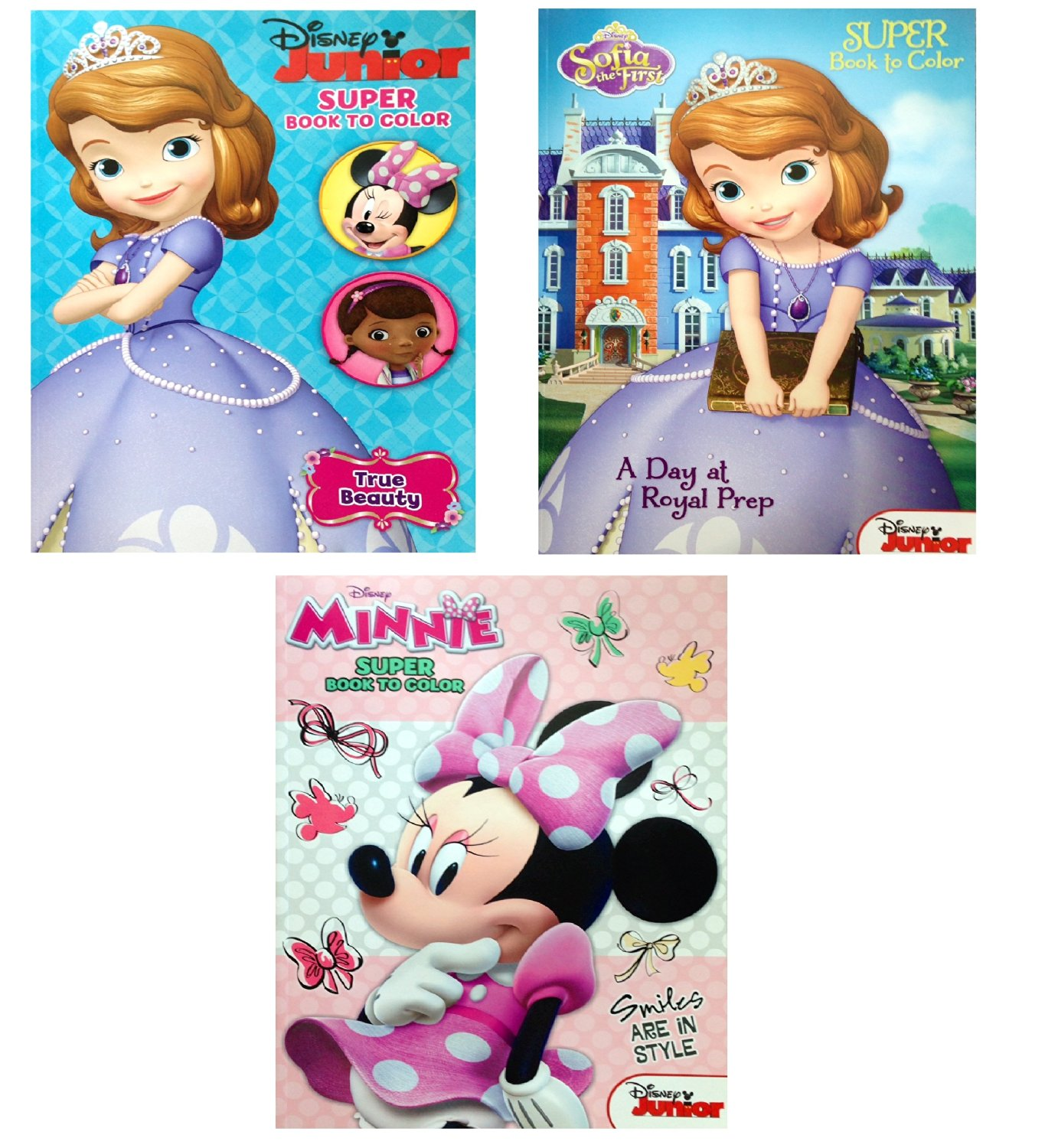 Disney Junior Coloring Books With Bonus Minnie The Mouse Book SOFIA THE FIRST