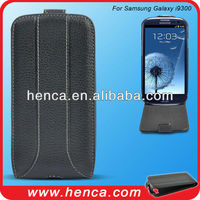 good quality flip real leather case for samsung galaxy I9300
