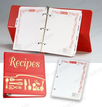 Wt-cob-713 Leather Cover Recipe Book Holder