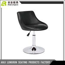 Industrial metal high pu leather top design bar stool/bar chair