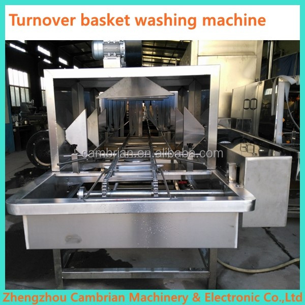 Stainless steel industrial plastic case washer with drying machine