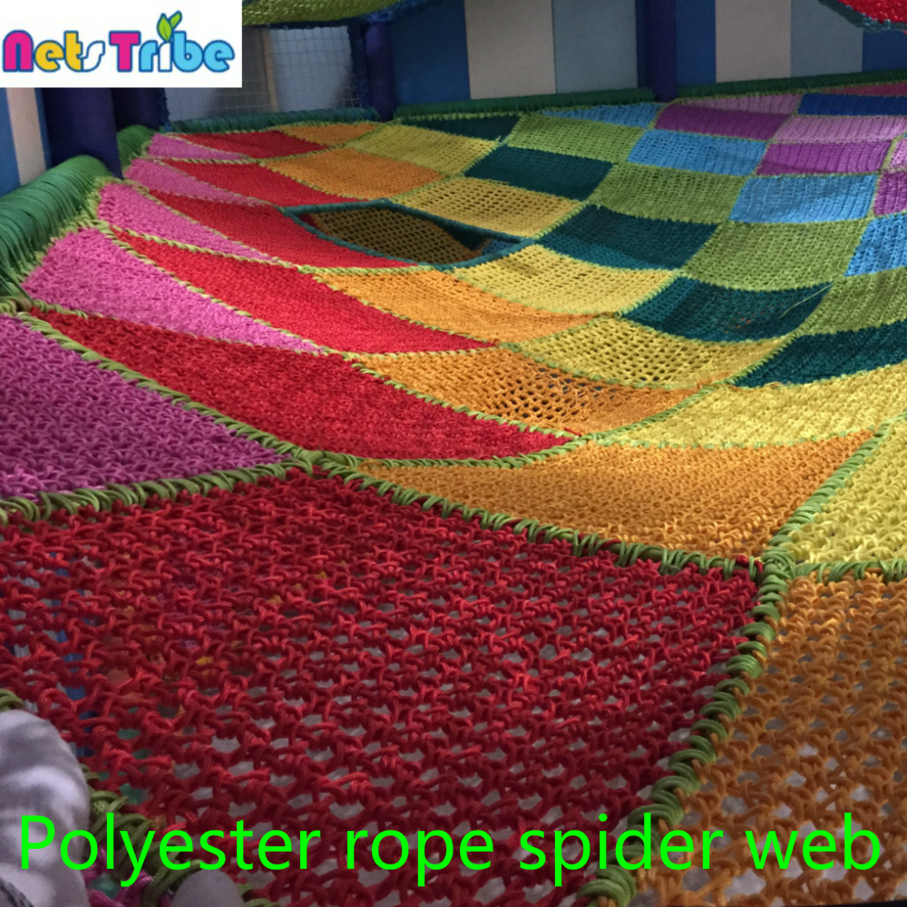 Polyester rope amusement products spider web competitive indoor playground